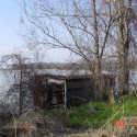 Another duck blind looking out over the open water.
